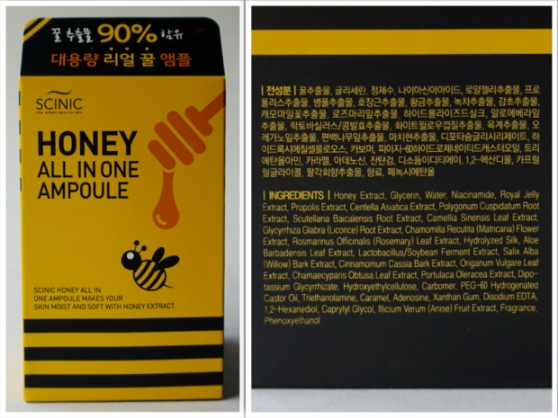 scinic all in one honey ampoule review and ingredients