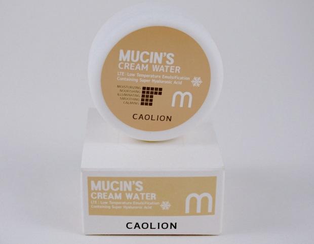 caolion mucin's cream water