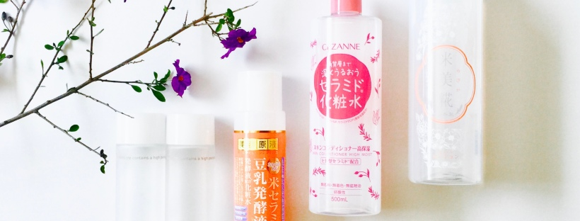 Comparison Review of 5 Japanese Ceramide Toners – Vanity Rex